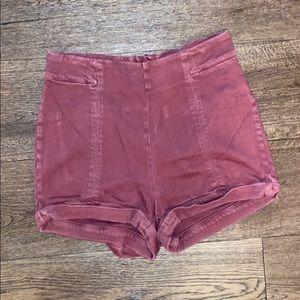 Dark maroon shorts !